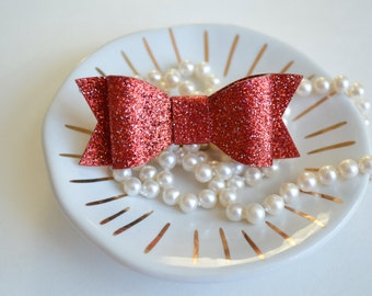 Red Glitter Bow, Red Christmas Hair Bow, Toddler Hair Bow, Red, Holiday Hair Bow, Girls Hair Bow, Red Glitter, Valentines Day