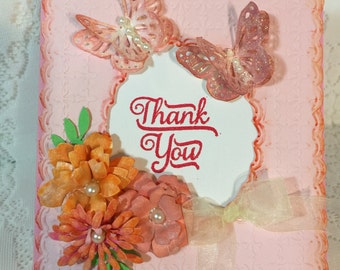 Thank You, Elegant Handmade, Greeting Card,