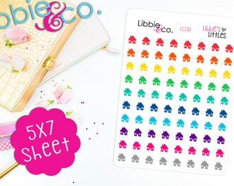 LL130 Bold Libbie's Littles House Stickers! Perfect for Erin Condren, Happy, Mambi, Plum Paper ...
