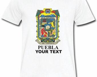 Puebla Mexico T-shirt V-Neck Tee Vapor Apparel with a FREE custom text(optional)