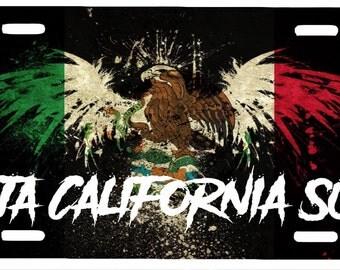 """Baja California Sur  Mexico Aluminum License Plate Placa  6"""" x 12"""""""