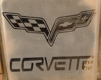 corvette etched glass block