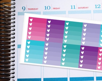 Planner Stickers Erin Condren Life Planner (ECLP) - 10 Full Box Pink Blue Purple Teal Ombre Stickers (#4006)