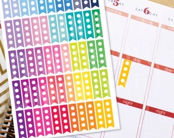 Planner Stickers Erin Condren Life Planner (Eclp) - 55 Flag Circle Checklist To Do Stickers (#7017)