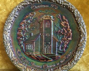 1970 Fenton Carnival Glass Plate