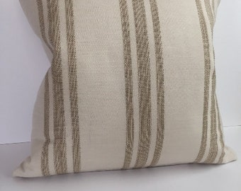 Cream pillow cover, Tan pillow cover, Nautial pillow cover, Neutral pillow cover