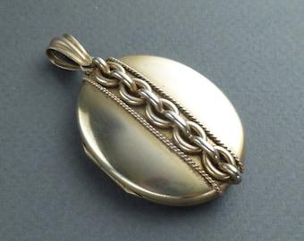 Vermeil  (silver gilt) locket c 1870