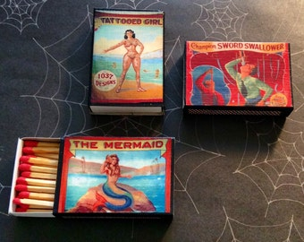 Sideshow banner matchboxes