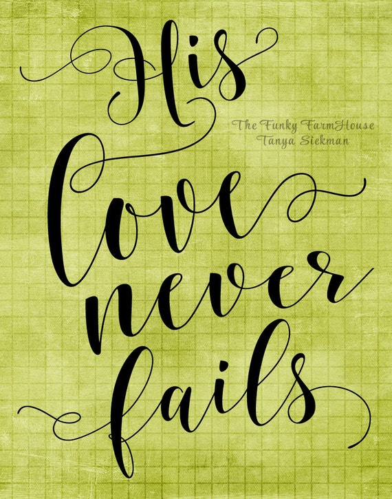 SVG, DXF & PNG - His Love Never Fails