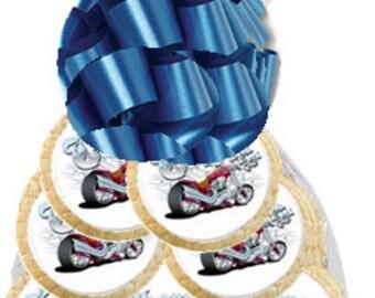 12pack MotorCycle Decorated Sugar Cookies