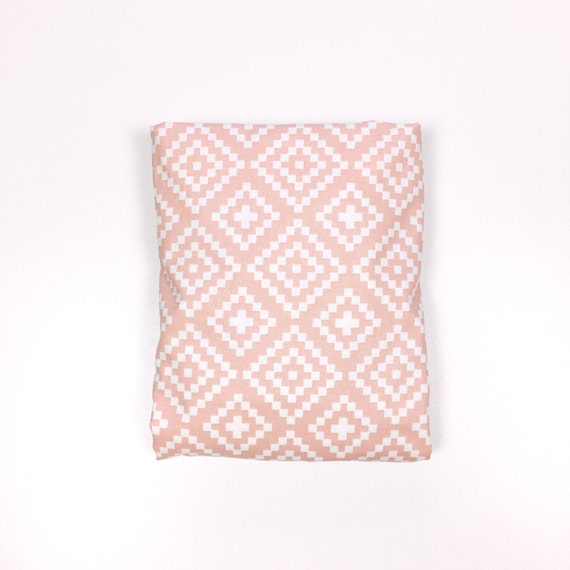 Crib Sheet >> Nordic Losenges in Dusty Pink >> MADE-to-ORDER diamond toddler sheet, southwest cot sheet, ballet pink bedding, rose bassinet