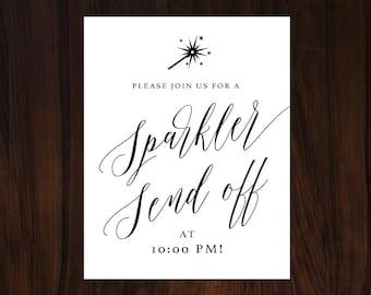 Sparkler Send Off Sign, Wedding Sparkler Sign, Sparklers Sign