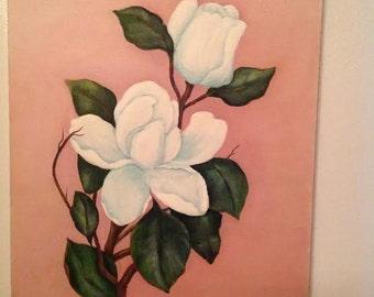 Magnolia Rose Painting