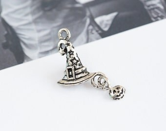 hat charm,hat jewel,hat jewelry,hat, hat pendant, DIY pendant,Brass charm, Beading supplies, handmade pendant, jewelry gift, handmade item