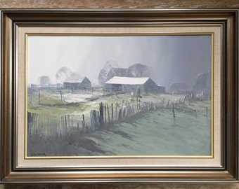 Australian artist Colin Parker (1941-) 'Soft morning light at Hill End, New South Wales, 1982) Parker Galleries, Sydney