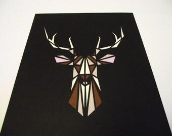A4 Hand-Cut Stag Paper-Cut