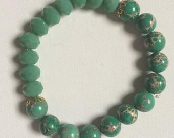 Green Jasper Stretch Bracelet