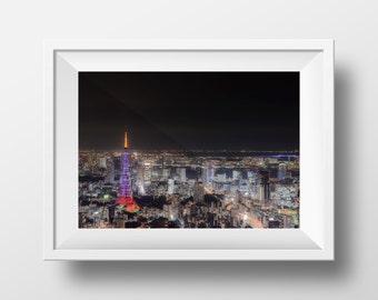 Tokyo at Night / Japan / Asia / Tokyo Tower / Wall Art / Print