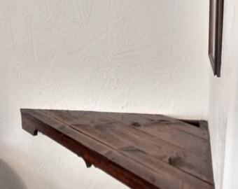 custom wooden TV shelf