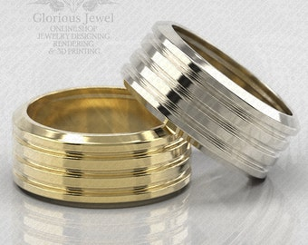 Glorious Wedding on engagement OOAK Ring / 925 Sterling Silver / 14K Gold / Custom made / FREE SHIPPING / Made to Order