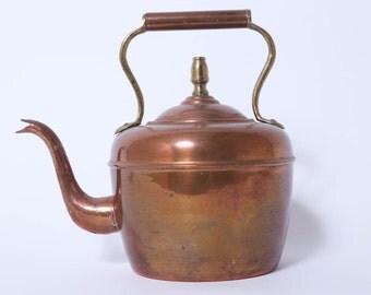 Vintage Copper & Brass Teapot