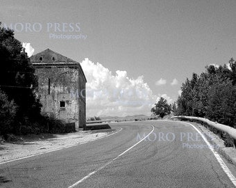 On The Road, Black and White A4 print