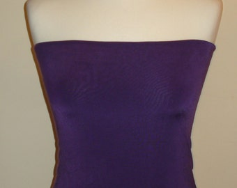 Light Aubergine Bandeau Top Tube Top Boob Tube Top To Wear With Multiway  Infinity Dress Boobtube Crop Tube Top