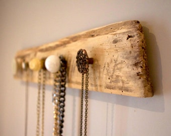 Reclaimed Wood / Barn Board Jewelry and Scarf Rack (V3)