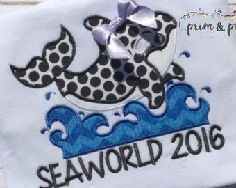 Seaworld Shirt, Girls Whale Shirt