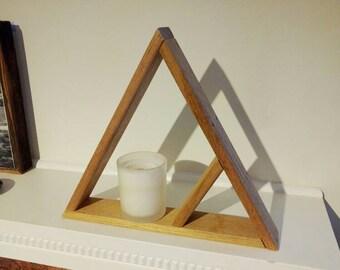Geometric Wood Triangle
