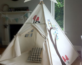 Teepee play tent quote, bespoke design, handcrafted in Ireland