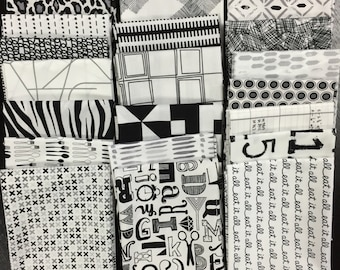 Last Bundle - Black, White and Gray Stash Builder - 20 Fat Quarters