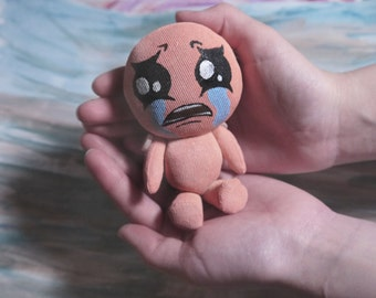 The Binding of Isaac - Isaac doll, cute video game plush for game room decor, gamer birthday gift, gamer girlfriend gift, gamer girl gift