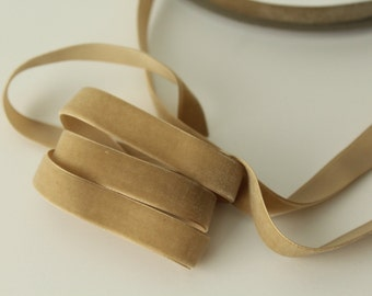 5/8 inch  Candied Ginger Velvet Ribbon / Brown  Velvet /   VRYM58-836