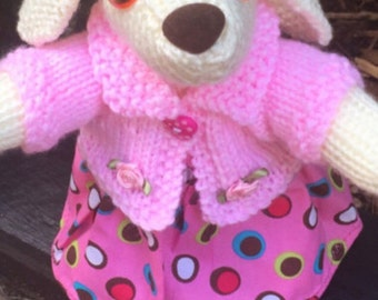 Knitted Bunny, Stuffed Toy, Collectable, Knitted Toy, Rabbit Toy