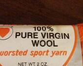 Yarn skein, tangerine worsted sport yarn, tangerine yarn skein, skein of yarn, crochet yarn, knitting yarn, supplies, knitting supply
