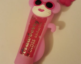 Strawberry lip gloss with case
