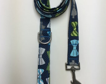 Multi-Color Bow Tie Print Dog Leash