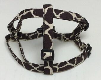 Adjustable Giraffe Print Step-In Harness