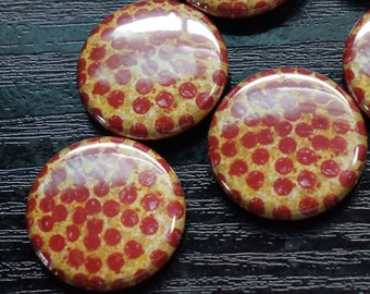 Pepperoni Pizza buttons 1""