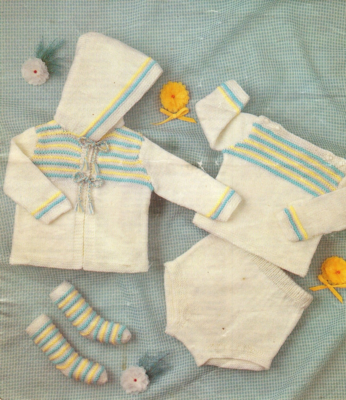 Baby Hoodie Pattern DK pattern Baby Knit Pattern PDF