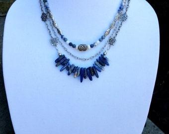 Bohemian Blue Sodalite Necklace