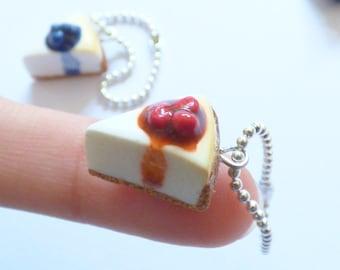 Cute Cheesecake Accessory : Key chain, Dust plug or Charm