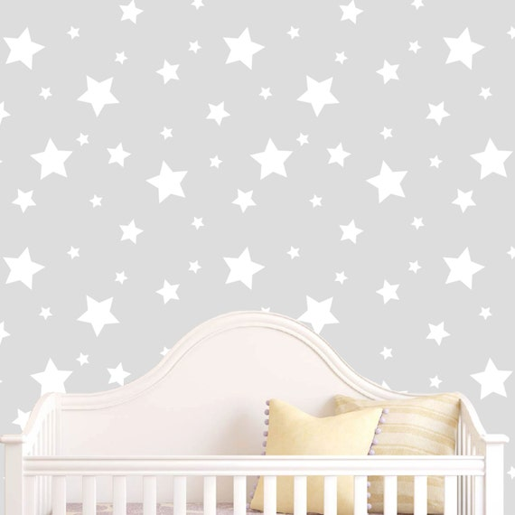 Star decal Star wall decals Nursery star decals by LaLeniDecals