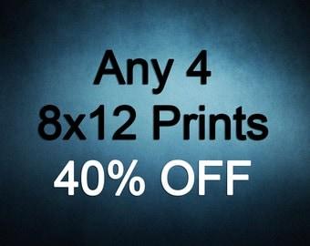8x12 Prints - Choose any 4 ColorPopPhotoShop Fine Art Photographs
