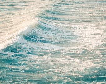 Water Photography, Bathroom Wall Decor, Wave Photography, Ocean Landscape, Beach House Decor, Ocean Art Print, Beach Decor, Bathroom Print