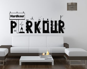 Wall Vinyl Sticker Decals Mural Room Design Pattern Art Decor Parkour Street Life City Sport Hobby mi934