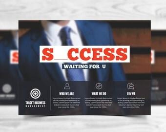 Multipurpose Corporate Advertising Postcard Template - Advertising Marketing - Photoshop template INSTANT DOWNLOAD
