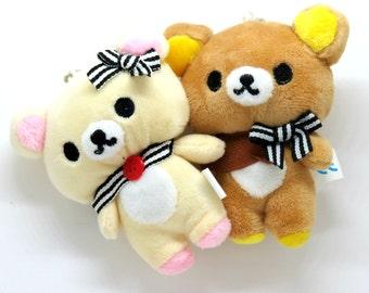 rilakkuma/korilakkuma small plushy (one piece), rilakkuma, korilakkuma, San-X, Sanrio inspired, plushie, kawaii, bear, cute