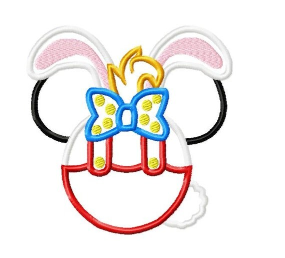 Character Applique Design : Character inspired roger rabbit embroidery applique design